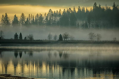 Photograph - Foggy Morning On The Pend Oreille River by Albert Seger