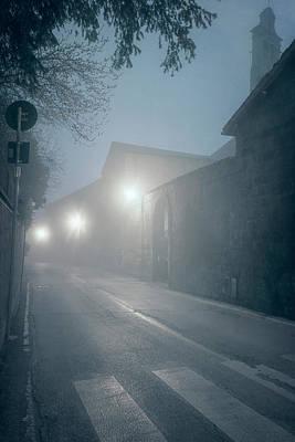 Photograph - Foggy Morning Orvieto Italy Cool by Joan Carroll