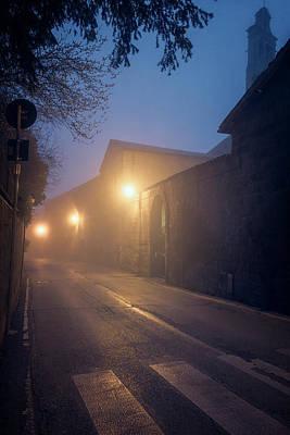 Photograph - Foggy Morning Orvieto Italy by Joan Carroll