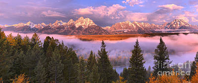 Photograph - Foggy Morning Over The Snake River Valley by Adam Jewell