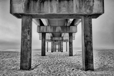 Photograph - Foggy Morning Pier by Gej Jones
