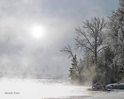 Riverstone Gallery Photograph - Foggy Morning River by Gregory Steele