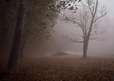 Photograph - Foggy Morning Sunrise Footbridge - Kentucky by Greg Jackson