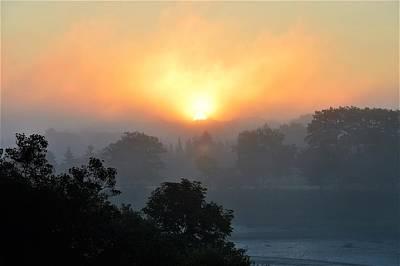 Photograph - Foggy Morning Sunrise by Jewels Blake Hamrick
