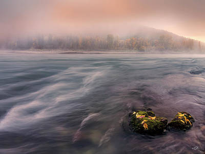 Photograph - Foggy Morning Sunrise by Leland D Howard