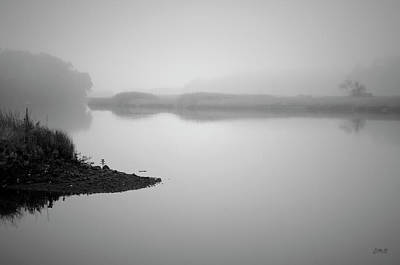 Photograph - Foggy Morning Taunton River Bw by Dave Gordon