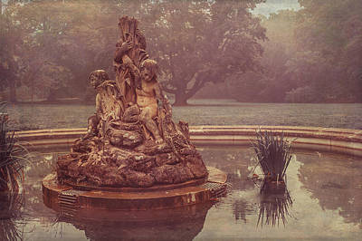 Photograph - Foggy Morning. The Fountain. Luzanki Park by Jenny Rainbow