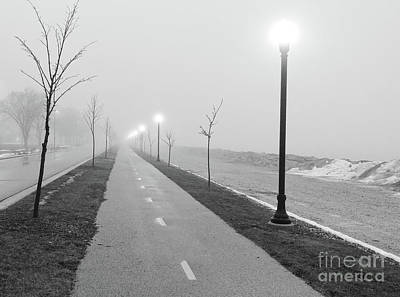 Photograph - Foggy Morning Walk by Ricky L Jones