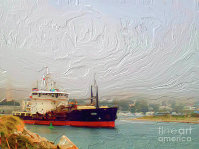 Painting - Foggy Morro Bay by Methune Hively