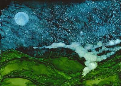 Joy Dorr Painting - Foggy Mountain by Joy Dorr