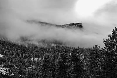 Photograph - Foggy Mountain Peak - Estes Park by Angie Tirado