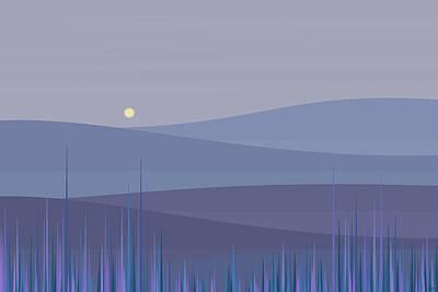 Digital Art - Foggy Mountain Tops by Val Arie