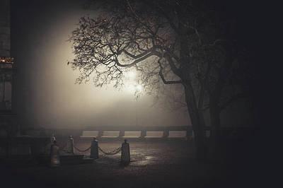 Photograph - Foggy Night In Brno. Denis Gardens by Jenny Rainbow