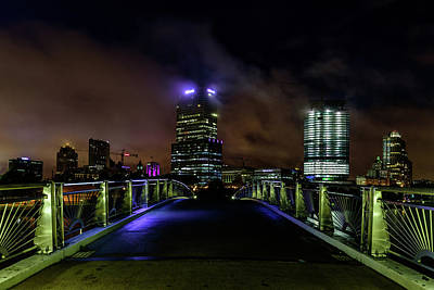 Photograph - Foggy Night In Milwaukee by Randy Scherkenbach