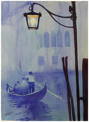 Foggy Night In Venice Original by Donna Leiber
