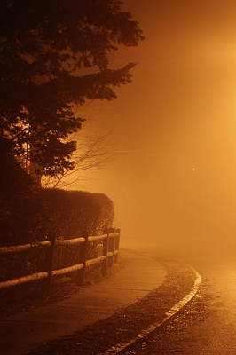 Photograph - Foggy Night In White Plains Ny 2006 04 by Ericamaxine Price