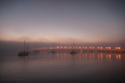 Photograph - Foggy Nights Of Lights by Stacey Sather