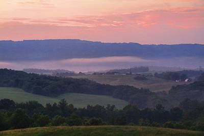 Photograph - Foggy Overlook 1 by Kathryn Meyer