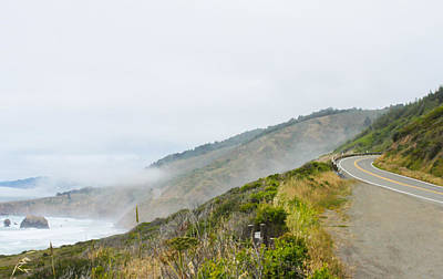 Photograph - Foggy Pacific Coast Highway by Susan Vineyard