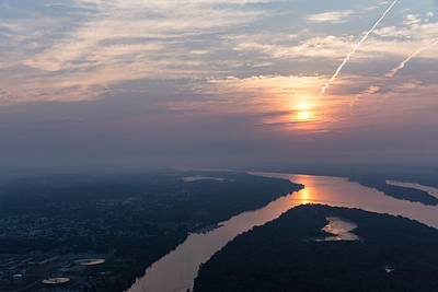 Photograph - Foggy Pink Sunrise Over The Ottawa River by Georgia Mizuleva