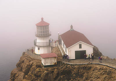 Photograph - Foggy Point Reyes Lighthouse  by Brent Dolliver