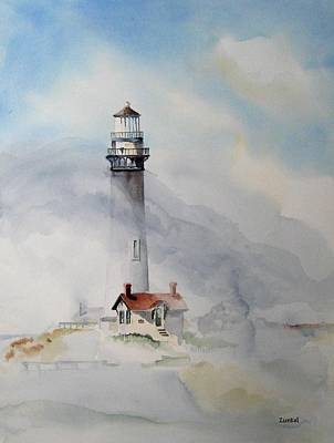 Painting - Foggy Point by Richard Zunkel