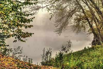 Photograph - Foggy Pond by Jane Luxton