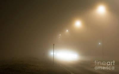 Foggy Road Photograph - Foggy Road by Geoff Smith