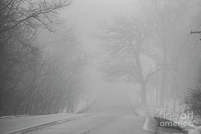Photograph - Foggy Road In Winter by David Bearden