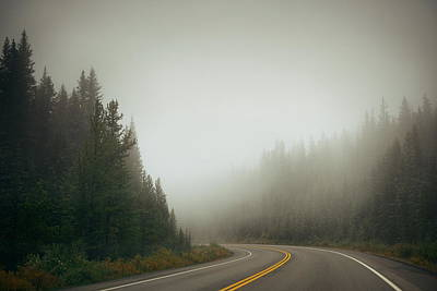 Photograph - Foggy Road by Songquan Deng