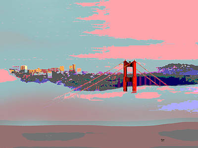 Tower Of London Mixed Media - Foggy San Francisco by Charles Shoup
