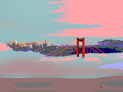 Tower Of London Mixed Media - Foggy San Francisco by Charles Shoup