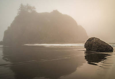 Olympic National Park Photograph - Foggy Stacks by Kristopher Schoenleber