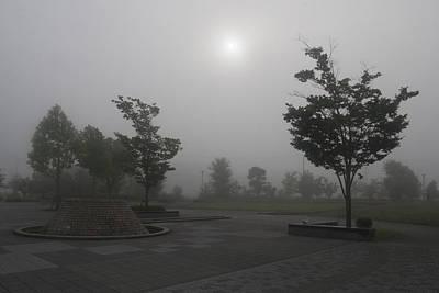 Photograph - Foggy Sun by Masami Iida