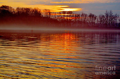Photograph - Foggy Sunrise At The Delaware River by Robyn King