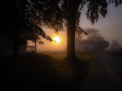 Photograph - Foggy Sunrise by Nick Smith