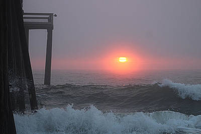 Photograph - Foggy Sunrise by Robert Banach