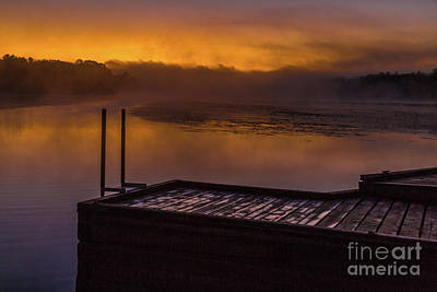Photograph - Foggy Sunrise by Roger Monahan