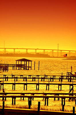 Photograph - Foggy Sunset by Emily Stauring
