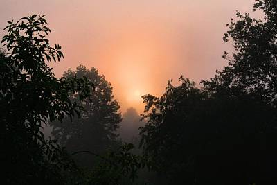 Photograph - Foggy Sunup 2 by Kathryn Meyer