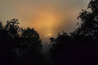 Photograph - Foggy Sunup 3 by Kathryn Meyer