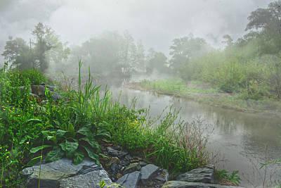 Photograph - Foggy Suunrise At Ives Run by Bernadette Chiaramonte