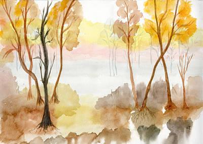 Foggy Suwannee Art Print