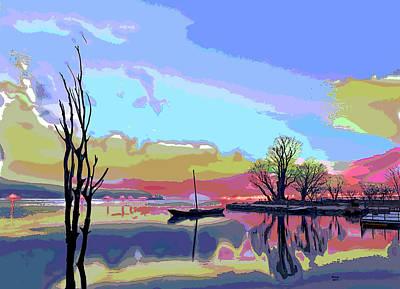 Foggy Swamp Art Print by Charles Shoup