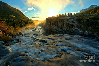 Photograph - Foggy Swiftcurrent Morning by Adam Jewell