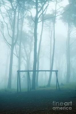 Foggy Swing Art Print by Carlos Caetano