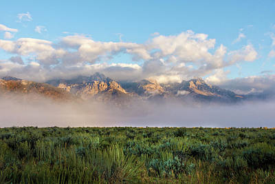 Teton Photograph - Foggy Teton Sunrise - Grand Tetons National Park Wyoming by Brian Harig