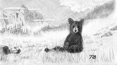 Foggy The Bear Art Print
