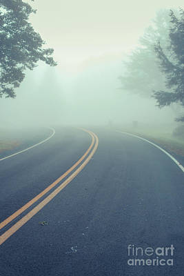 Photograph - Foggy Turn In The Road by Edward Fielding
