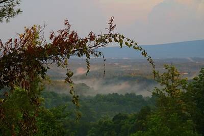 Photograph - Foggy Valley Overlook by Kathryn Meyer